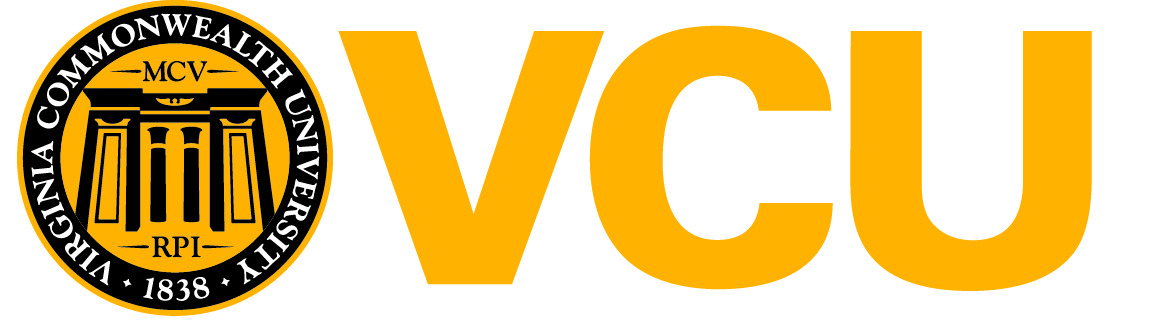 VCU Official Brand Mark with Black Lettering